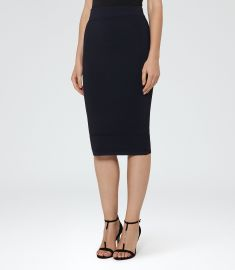 Guardian knitted pencil skirt at Reiss
