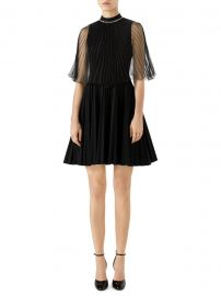 Gucci - Pleated Organza Jersey Dress at Saks Fifth Avenue