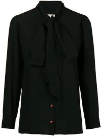 Gucci Bow-neck Ladybug Buttons Blouse - Farfetch at Farfetch