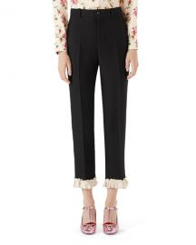 Gucci Cady Crepe Wool Suiting Pants   Neiman Marcus at Neiman Marcus