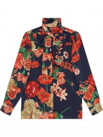 Gucci Spring Bouquet Silk Shirt - Farfetch at Farfetch