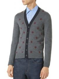 Gucci - Bees   Stars Wool Cardigan at Saks Fifth Avenue