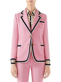 Gucci - Cady Striped Trim Blazer at Saks Fifth Avenue