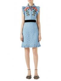Gucci - Embroidered Cluny Lace Dress at Saks Fifth Avenue