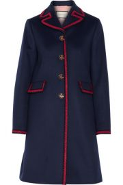 Gucci   Embroidered wool coat at Net A Porter