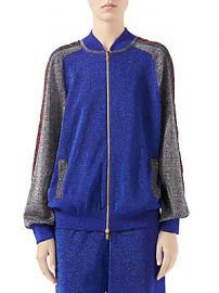 Gucci - Fine Wool Lurex Track Jacket at Saks Fifth Avenue