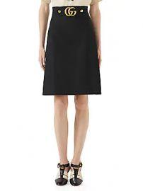 Gucci - GG Logo Belt Mini Skirt at Saks Fifth Avenue