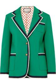 Gucci - Grosgrain-trimmed cady blazer at Net A Porter