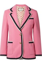 Gucci - Grosgrain-trimmed cady blazer at Net A Porter
