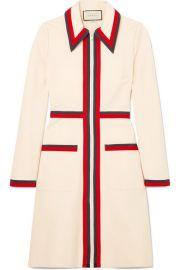 Gucci - Grosgrain-trimmed stretch-crepe dress at Net A Porter