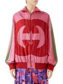 Gucci - Long-Sleeve Oversize GG Zip-Up Jacket at Saks Fifth Avenue