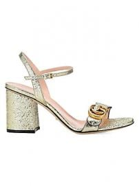 Gucci - Marmont GG Ankle-Strap Sandals at Saks Fifth Avenue
