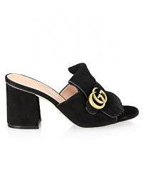 Gucci - Marmont Suede Sandals at Saks Fifth Avenue