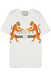 Gucci - Oversized printed stretch-cotton jersey T-shirt at Net A Porter