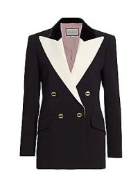 Gucci - Peak-Lapel Wool  amp  Silk Double-Breasted Jacket at Saks Fifth Avenue