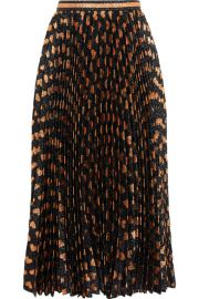 Gucci   Pleated printed lam   skirt at Net A Porter