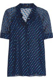 Gucci   Polka-dot silk-blend chiffon blouse at Net A Porter