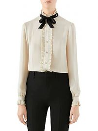 Gucci - Silk Ruffle Tie Blouse at Saks Fifth Avenue