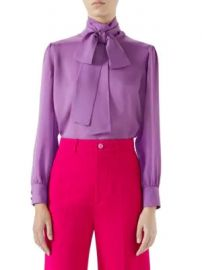 Gucci - Silk Satin Blouse at Saks Fifth Avenue