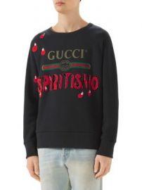 Gucci - Spiritismo Logo Cotton Knit Sweater at Saks Fifth Avenue