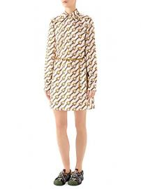 Gucci - Stirrup Rain Printed Silk Twill Shirtdress at Saks Fifth Avenue