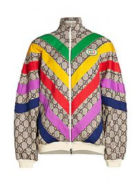 Gucci - Technical Jersey GG Rainbow Track Jacket at Saks Fifth Avenue