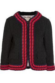 Gucci  Cropped boucl-tweed jacket at Net A Porter