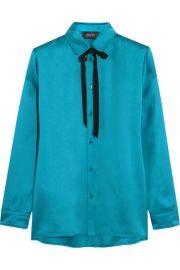 Gucci  Silk-satin blouse at Net A Porter