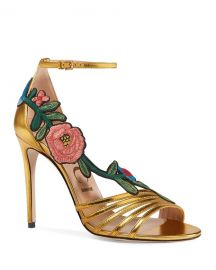 Gucci 105mm Ophelia Embroidered Sandal at Neiman Marcus