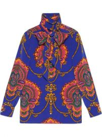 Gucci 70s Graphic Print Silk Shirt - Farfetch at Farfetch