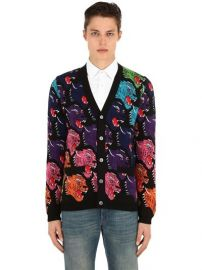 Gucci Angry Tiger Cardigan at Luisaviaroma