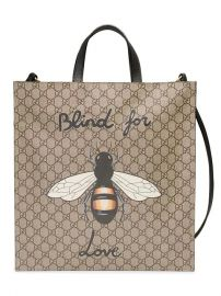 Gucci Bee Print Soft GG Supreme Tote - Farfetch at Farfetch