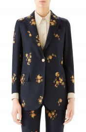 Gucci Camellia Fil Coup   Cotton  amp  Wool Jacket   Nordstrom at Nordstrom
