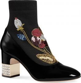 Gucci Candy Floral Embroidered Bootie  Women    Nordstrom at Nordstrom