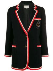 Gucci Contrast Trim Blazer Jacket - Farfetch at Farfetch