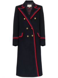 Gucci Contrast Trim double-breasted Military Coat - Farfetch at Farfetch