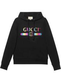 Gucci Cotton sweatshirt with Gucci logo Cotton sweatshirt with Gucci logo at Farfetch