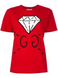 Gucci Diamond Print Logo T-shirt at Farfetch