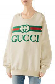 Gucci Embroidered Logo Sweatshirt   Nordstrom at Nordstrom