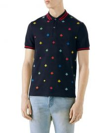 Gucci Embroidered Polo Shirt   Neiman Marcus at Neiman Marcus