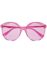 Gucci Eyewear Fuchsia Pink Specialized Fit Round Frame Sunglasses - Farfetch at Farfetch