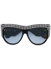 Gucci Eyewear Oversized Tortoiseshell Embellished Glasses - Farfetch at Farfetch