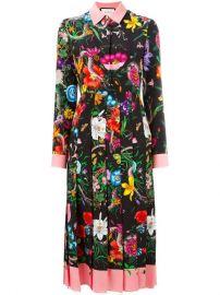 Gucci Flora Snake Print Silk Dress - Farfetch at Farfetch