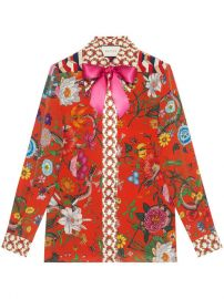Gucci Flora Snake Print Silk Shirt  1 800 - Buy Online AW17 - Quick Shipping  Price at Farfetch