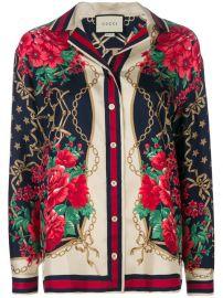 Gucci Floral Chain Print Shirt at Farfetch