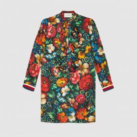 Gucci Floral Print Silk Dress at Gucci