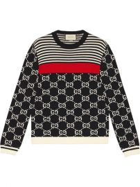 Gucci GG And Stripes Knit Sweater  - Farfetch at Farfetch