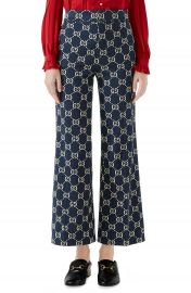 Gucci GG Embroidered Jersey Crop Pants   Nordstrom at Nordstrom