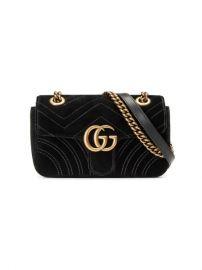 Gucci GG Marmont Velvet Mini Bag - Farfetch at Farfetch