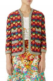 Gucci GG Rainbow Stripe Velvet Jacket   Nordstrom at Nordstrom